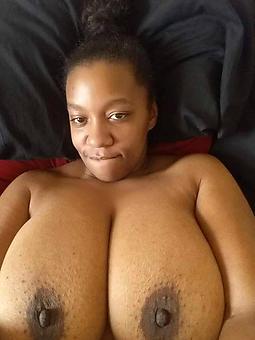 horny dark-skinned female selfie