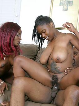free ebony threesome porn