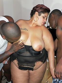 melancholy pitch-black Negro threesome