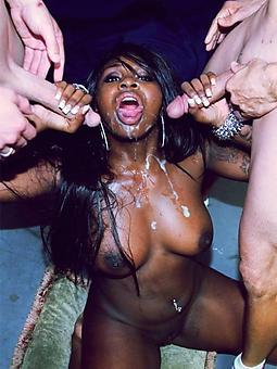 huge ebony cumshots porn pic