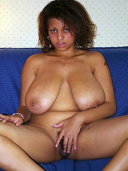 black saggy breast tease