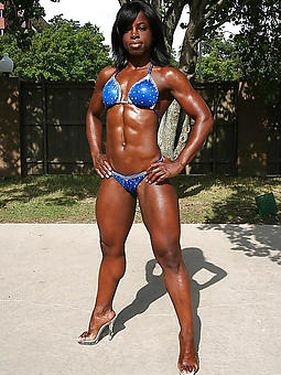 horny blackguardly muscle girl
