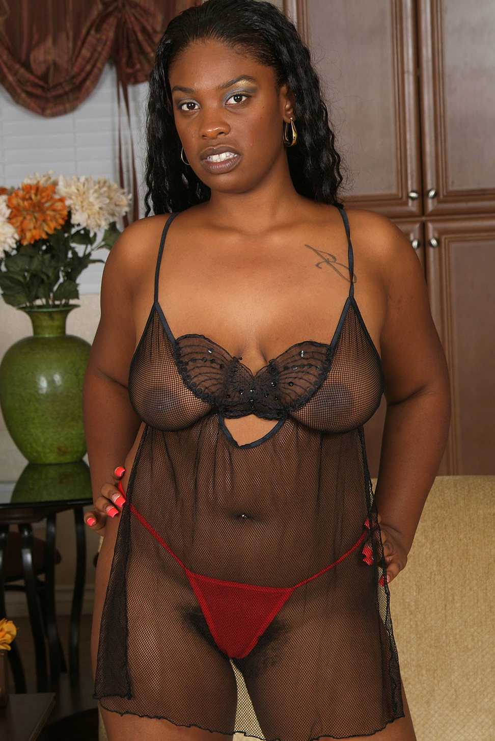 reality ebony lingerie porn
