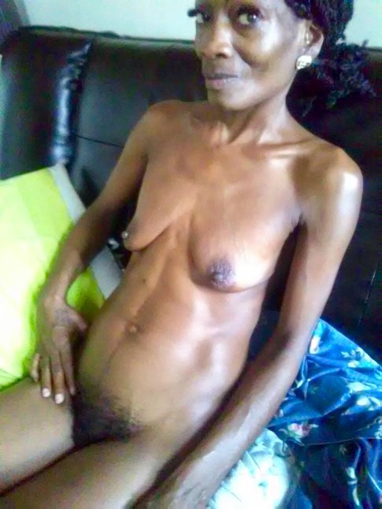 aged horny black body of men